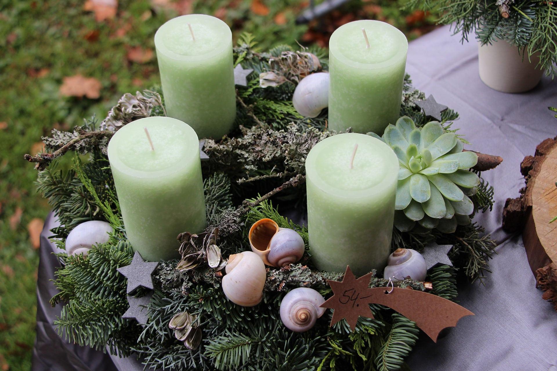 Weihnachten Adventskranz Grün