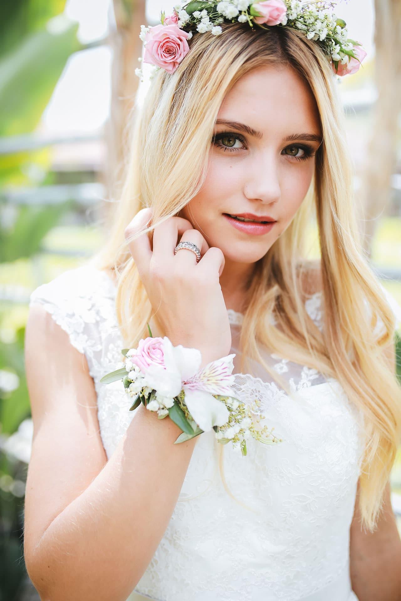 Hochzeit Haarschmuck und Armband