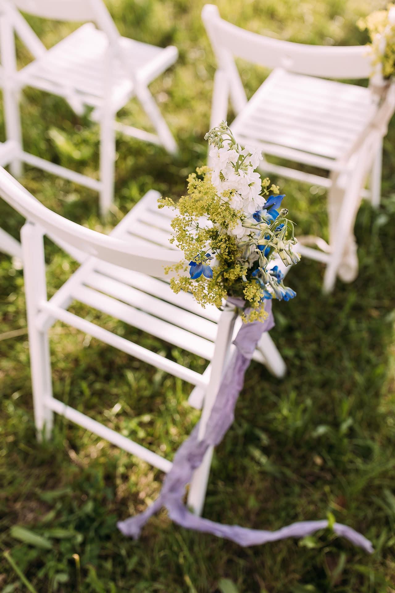 Hochzeitsdeko Stuhl