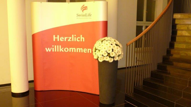 Blumenschmuck für Swiss Life