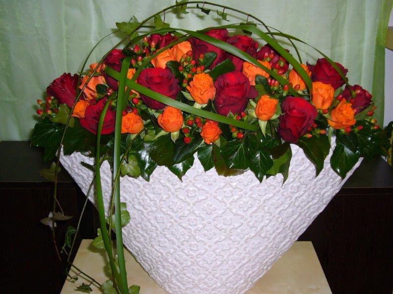 Tischdekoration rot orange