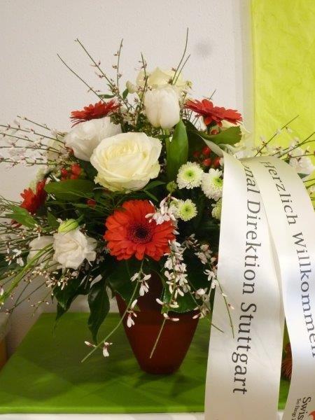 Blumenstrauß für Swiss Life